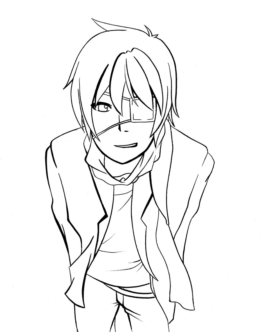 900x1143 Promising Anime Guy Coloring Pages Boy