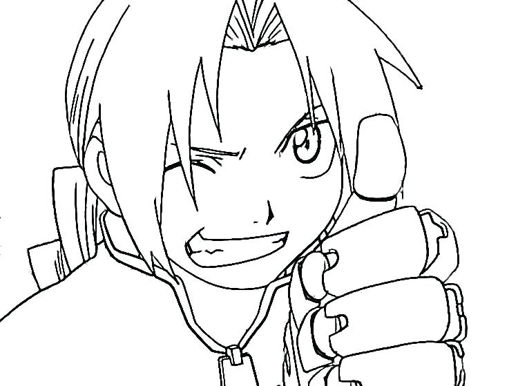 750x559 Anime Boy Coloring Pages