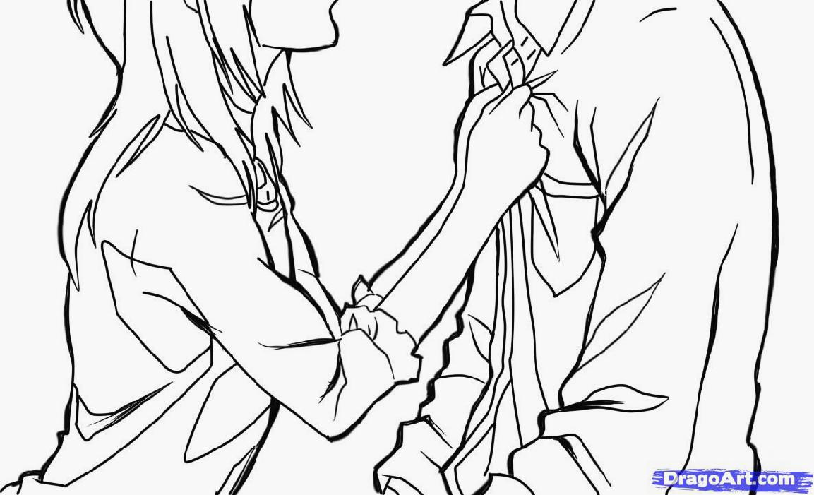 1153x701 Anime Couples Hugging Coloring Pages My