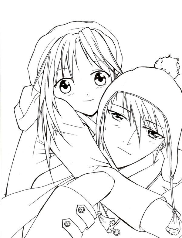 Coloring Pages Of Anime Couples