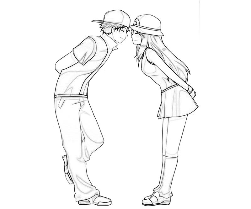 800x667 Anime Kissing Couples Coloring Pages