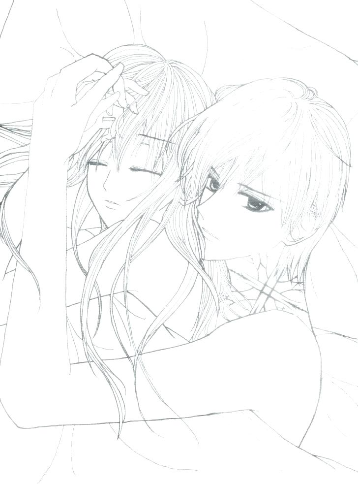 728x983 Emo Coloring Pages Anime Couples Coloring Pages Anime Couple