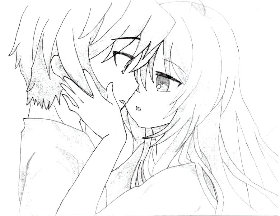 900x695 Anime Couples Coloring Pages Transasia