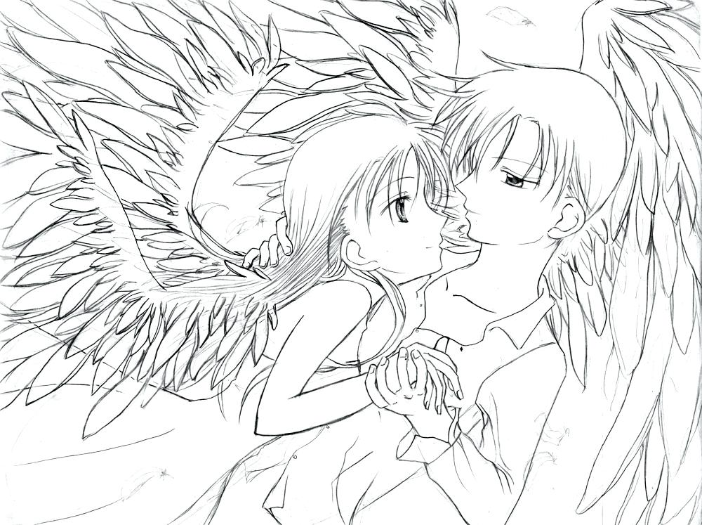 1000x747 Anime Couples Coloring Pages Anime Couple Coloring Pages Free