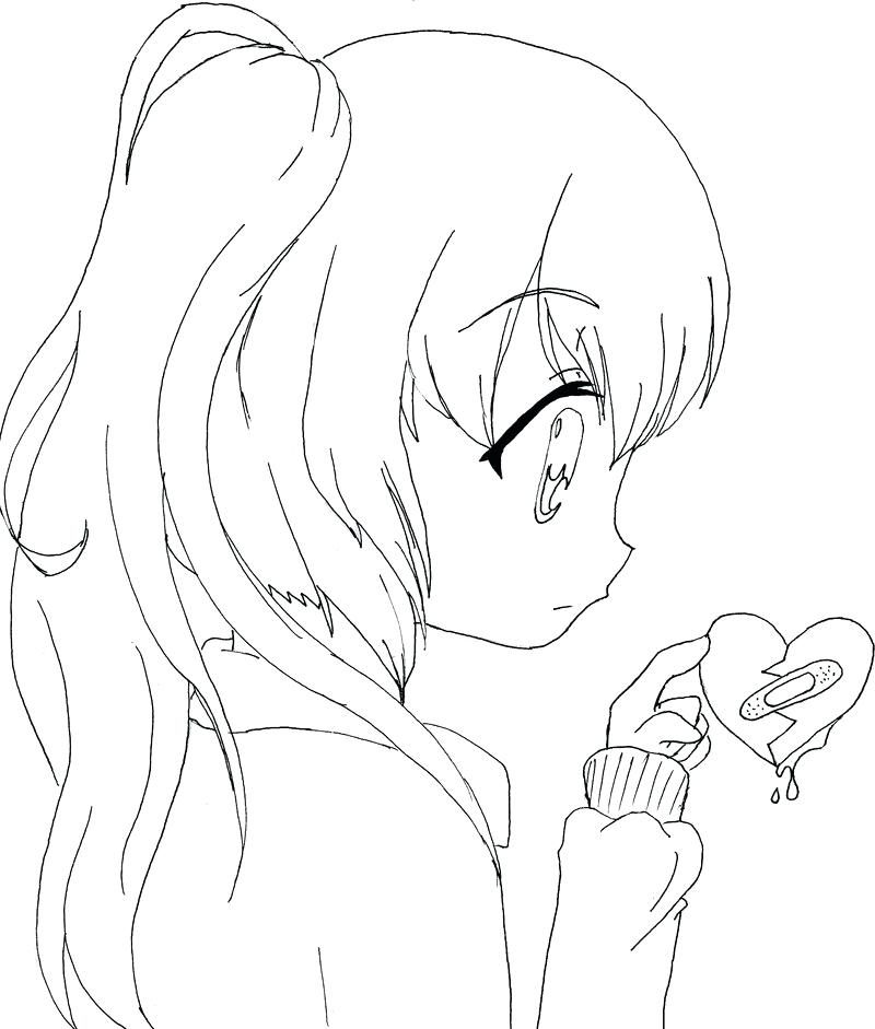 800x941 Coloring Pages Anime Cute Anime Girl Coloring Pages Anime Girl