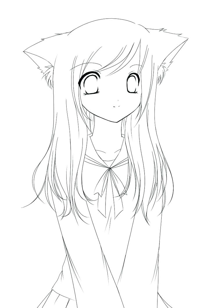 736x1061 Cartoon Girl Coloring Pages Girl Coloring Picture Anime Girl