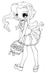 222x300 Cute Anime Chibi Food Coloring Pages