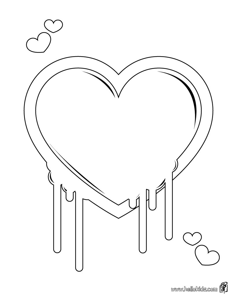820x1060 Hearts Arrows Coloring Pages