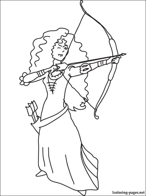 560x750 Merida With Bow And Arrows Coloring Page Coloring Pages