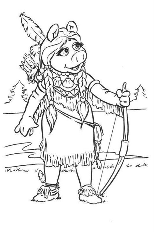 532x800 Muppet Show Holding Arrows Muppet Show Coloring Pages