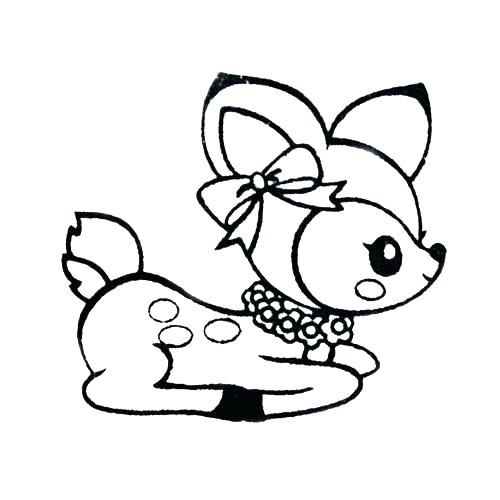 500x500 Free Deer Coloring Pages Baby Deer Coloring Pages Whitetail Deer