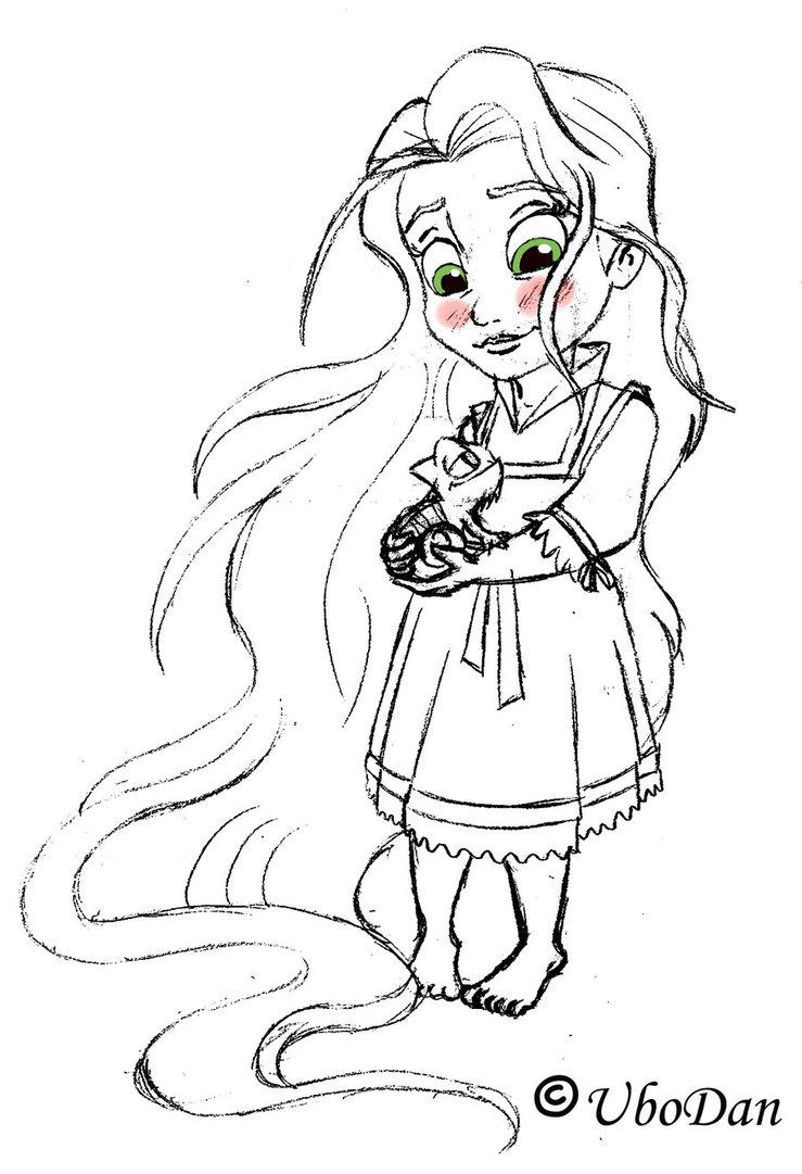 739x1081 Baby Disney Princess Rapunzel Coloring Pages