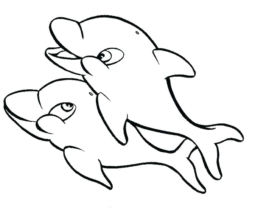 817x675 Cute Dolphin Coloring Pages Baby Dolphin Coloring Pages Cute