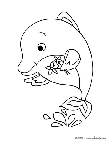 363x470 Dolphin Coloring Pages