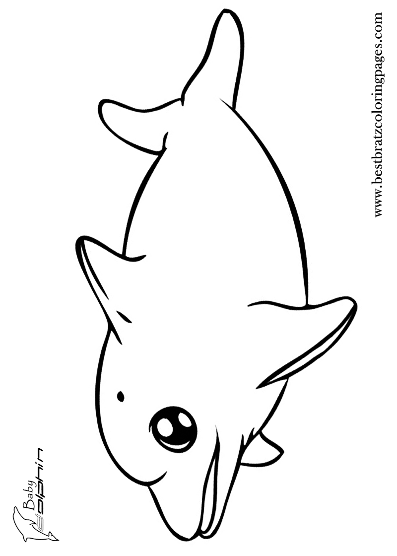 800x1120 Baby Dolphin Coloring Pages Bratz Coloring Pages Coloring