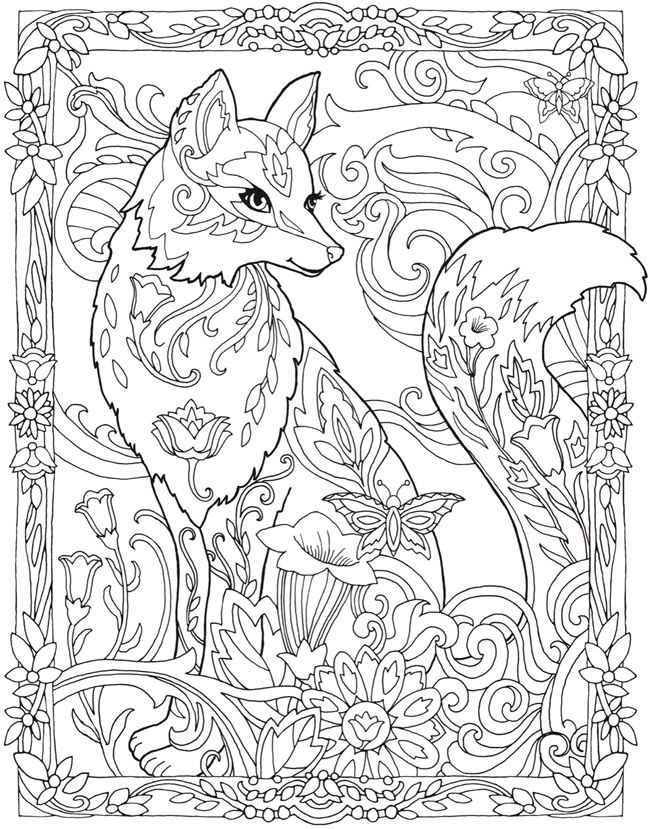 650x829 Coloring Hard Coloring Pages Of Animals Plus Fox Coloring Pages