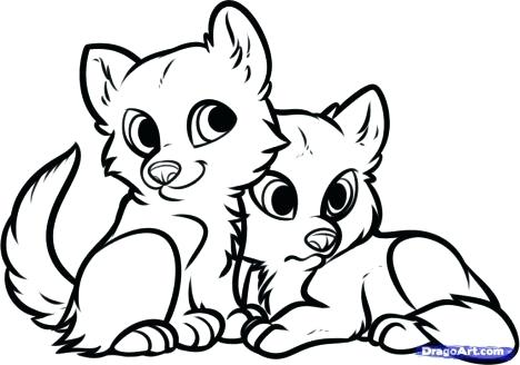 468x328 Fox Coloring Pictures Baby Fox Coloring Pages Animal Coloring