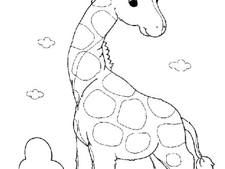 440x330 Baby Giraffe Coloring Pages Baby Giraffe Coloring Pages As Well As