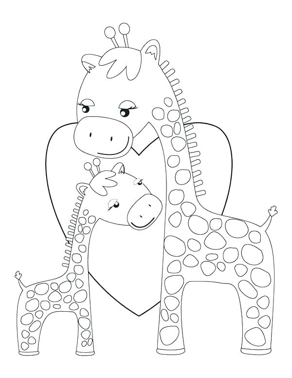 600x776 Baby Giraffe Coloring Pages Baby Giraffe Pictures To Color
