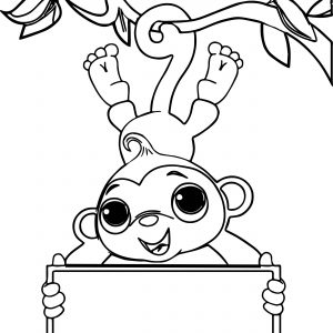 300x300 Coloring Pages For Monkey Best Of Coloring Pages Baby Monkey Best