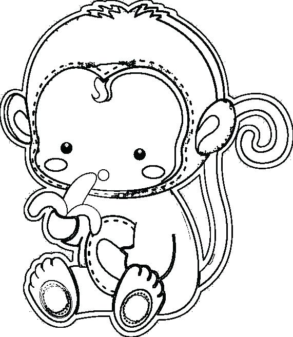 571x657 Coloring Pages Of A Monkey Monkey Color Pages Baby Monkey Coloring