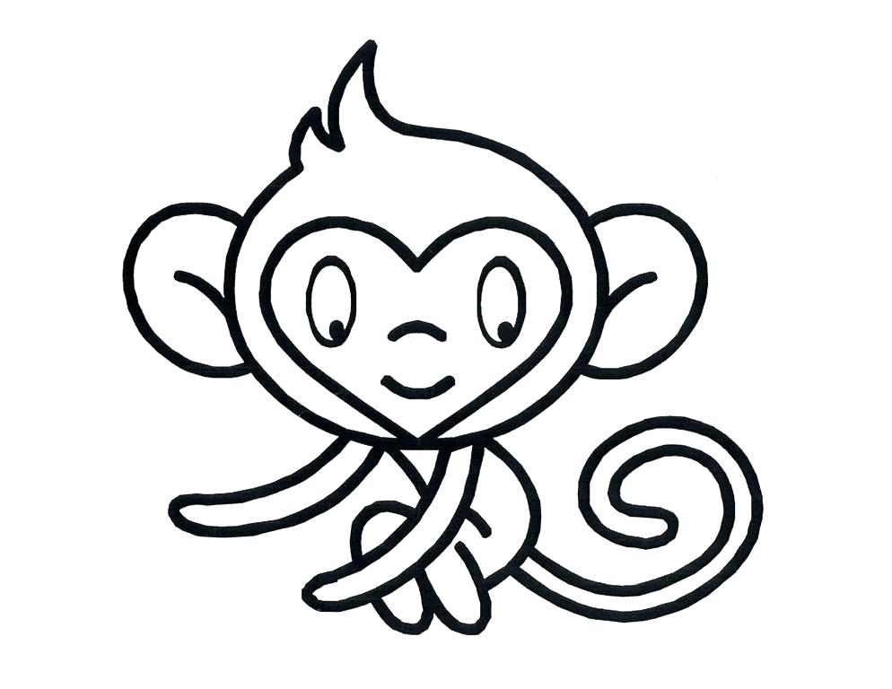 994x768 Cute Baby Monkey Coloring Pages Cute Monkey Coloring Pages Baby