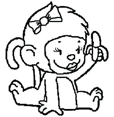 396x408 Lovely Free Printable Monkey Coloring Pages Coloring Pages Monkeys