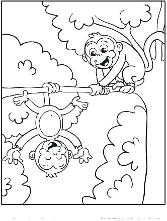 332x440 Monkey Coloring Pages Printable Baby Monkey Coloring Pages