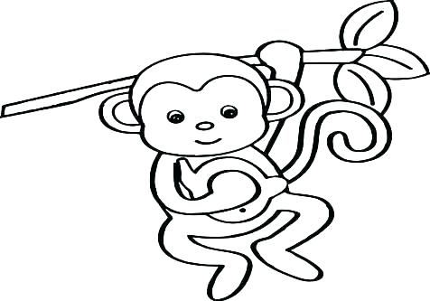 476x333 Monkey Coloring Pages Printable Baby Monkey Coloring Pages Monkey