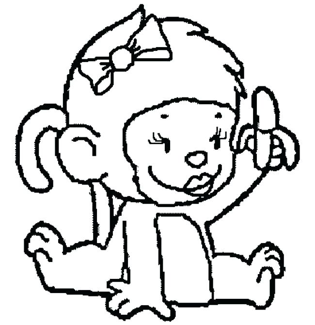 650x670 Monkey Coloring Pages Printable Monkey Coloring Pages Printable