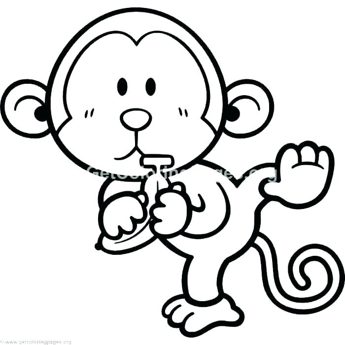 700x700 Baby Monkey Coloring Pages Monkey Color Pages Baby Monkey Coloring