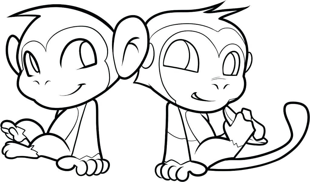 1024x602 Monkey Coloring Pages To Print