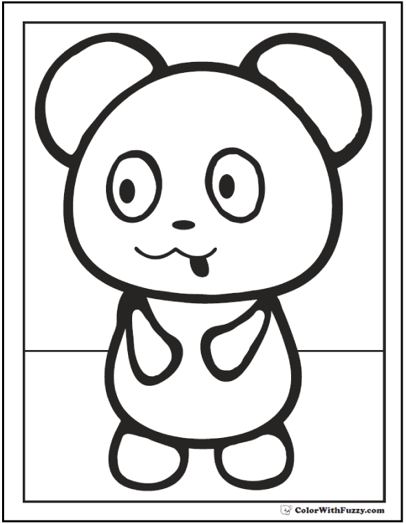 590x762 Panda Coloring Pages Bamboo And Baby Pandas