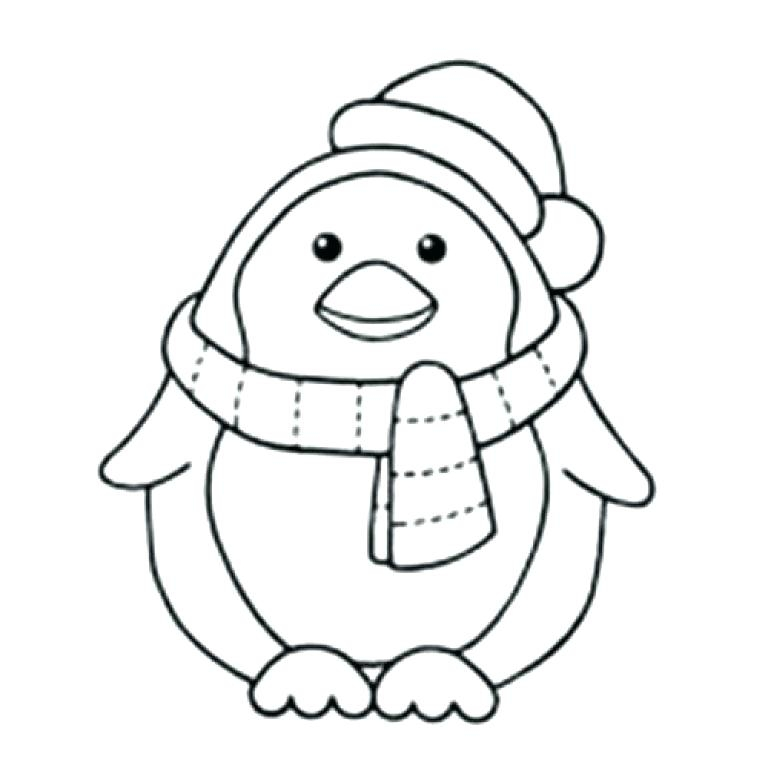 768x768 Coloring Pages Baby Penguins Coloring Pages Of Penguins Ba Penguin