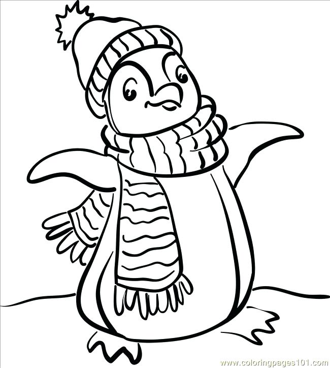 650x724 Coloring Pages Penguins Baby Penguin Skating Coloring Page Free