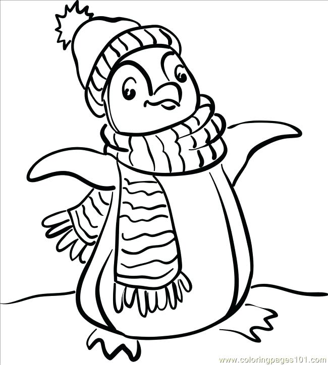 650x724 Penguin Coloring Pages Printable Free Penguin Coloring Pages