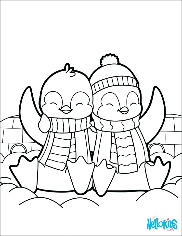 742x960 Penguin Printable Coloring Pages Baby Penguin Coloring Pages Cute