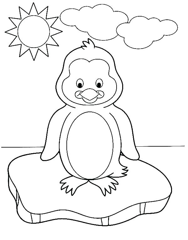 600x766 Free Printable Penguin Coloring Pages