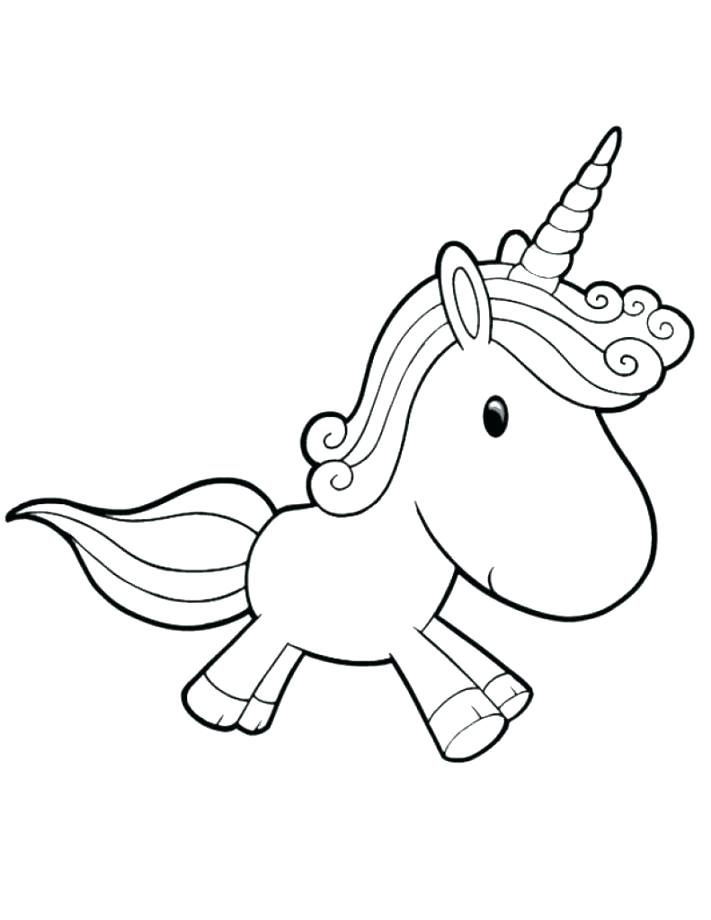 711x920 Cute Unicorn Coloring Pages Unicorn Coloring Set And Baby Unicorn