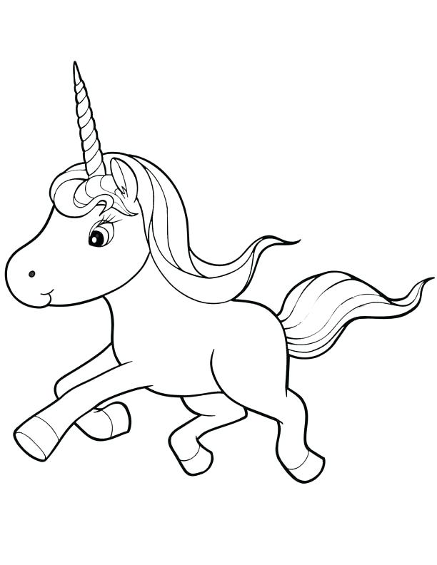 612x792 Unicorn Color Pages Baby Unicorn Coloring Pages Edit Free