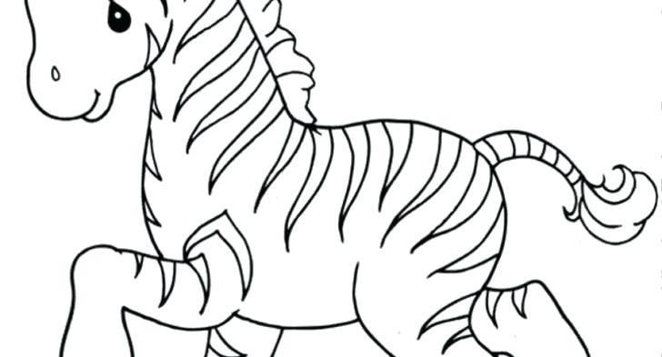 728x393 Cute Zebra Coloring Pages Baby Zebra Coloring Sheet Cute Zebra