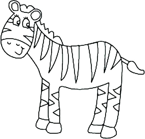 600x578 Zebra Print Coloring Pages