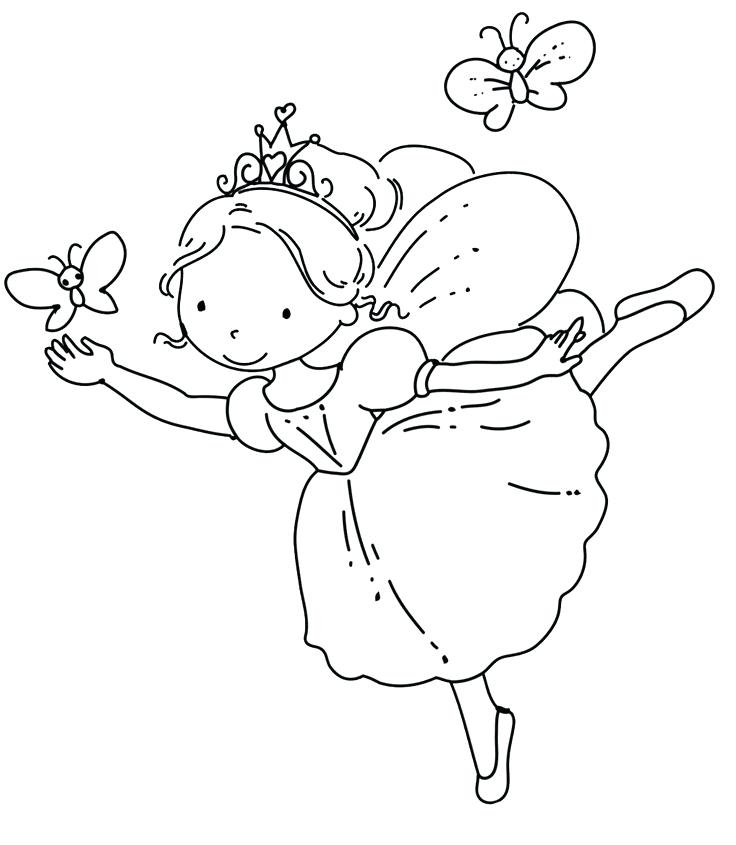736x845 Coloring Pages Ballerina Ballerina Coloring Pages With Butterfly