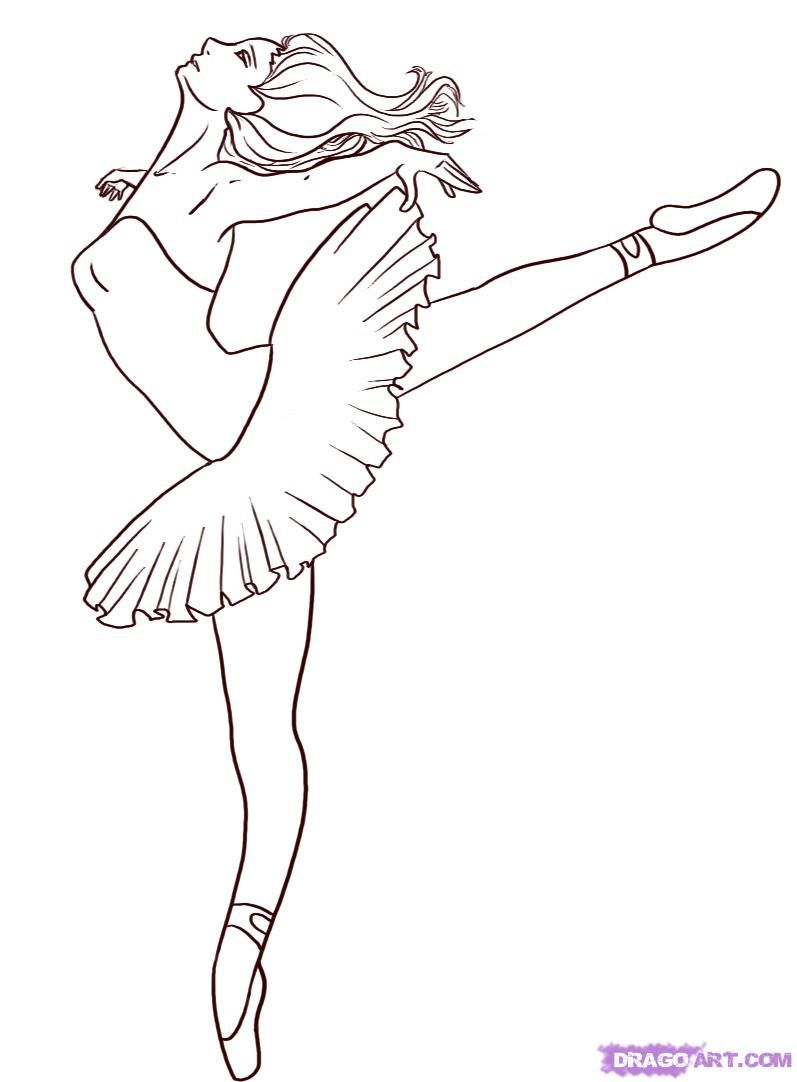Coloring Pages Of Ballerina At Getdrawings Com Free For Personal