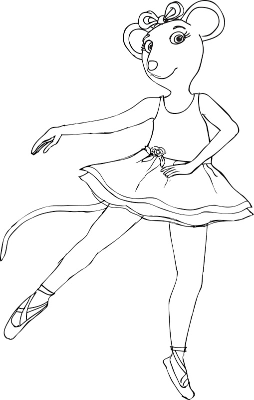 509x800 Angelina Ballerina Coloring Pages