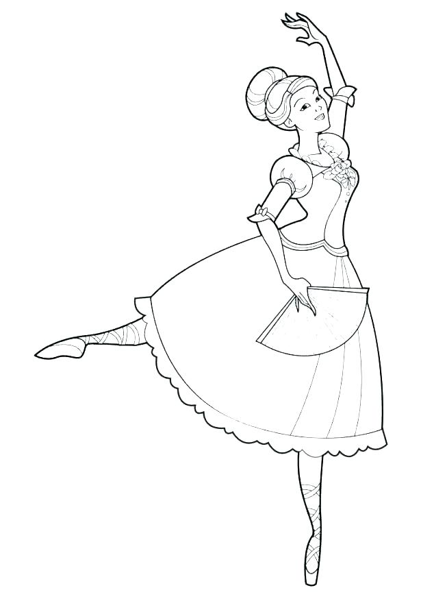 615x877 Ballet Coloring Pages Ballerina Coloring Pages First Position