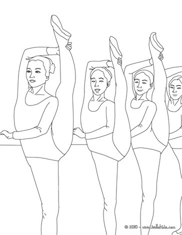 Coloring Pages Of Ballet Dancers