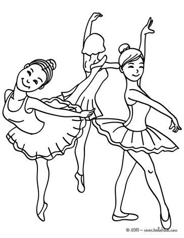 364x470 Group Of Young Ballet Dancers Coloring Page From Dance Coloring
