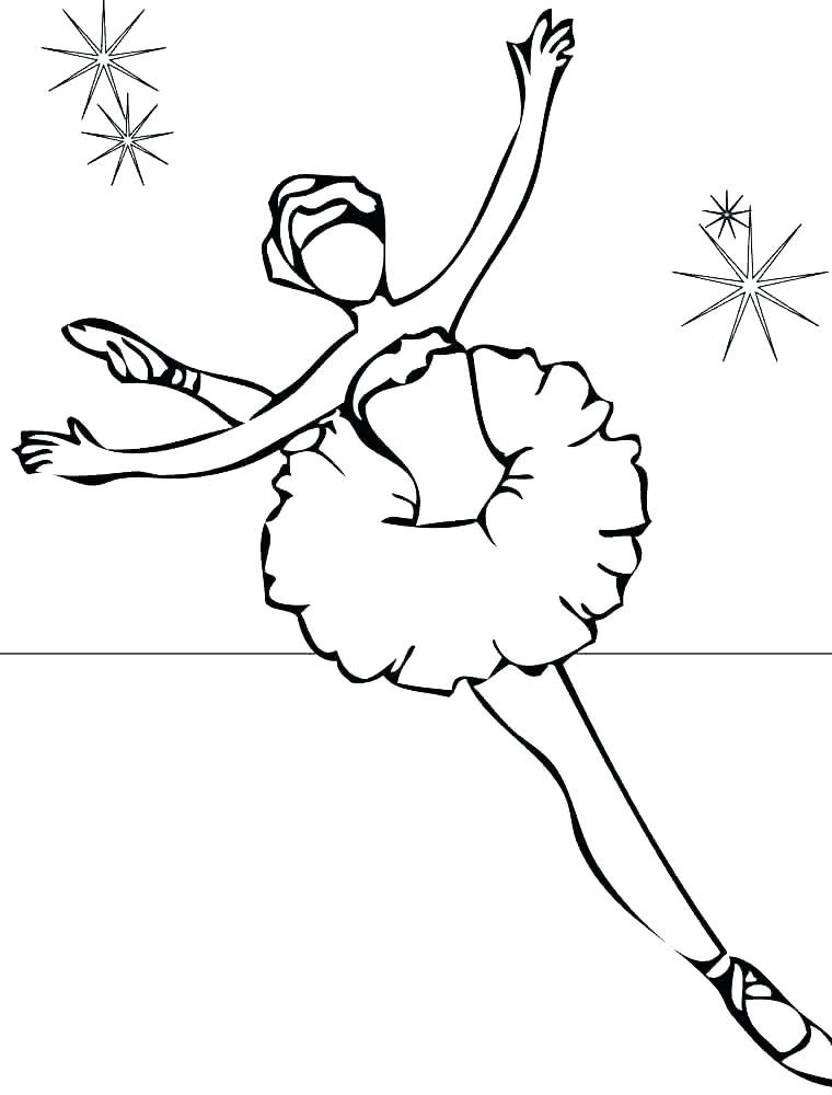 760x1000 Ballet Dancer Coloring Page