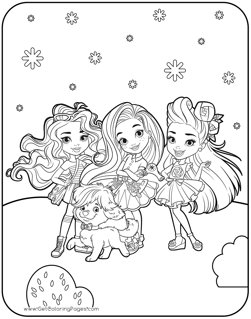 1024x1300 Best Friends Forever Coloring Page